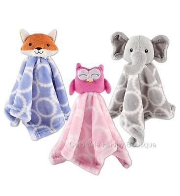 "New Hudson Baby Animal Plush Security Blanket 14"" Boy Girl G"