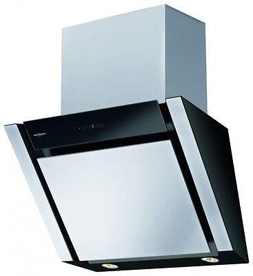 oranier meba 60 e kopffrei wandhaube dunstabzugshaube edelstahl schwarz. Black Bedroom Furniture Sets. Home Design Ideas