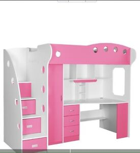 Pink Loft Bed with desk  Prince George British Columbia image 1