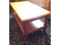 Solid Wood Coffee Table with Shelf Good Quality Very Sturdy Can Deliver