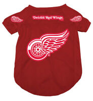 Licenced Hunter NHL Detroit Red Wings Jersey for Dogs[new]