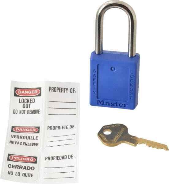 "Master Lock. Keyed Alike Retaining Key Lockout Padlock 1-1/2"" Shackle Clearan..."