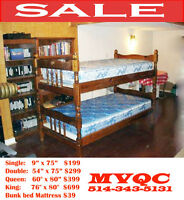 everyday low prices on, double, queen, single, king mattresses