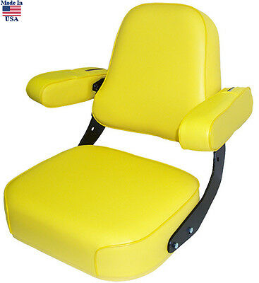 Yellow Vinyl Seat Assembly For John Deere 2520 2940 4030 4240 5020 Tractor
