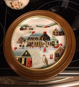 """The Village Inn"" World Book Annual Christmas Plate"