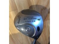 Callaway great big bertha driver with free new leather glove