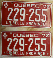 Plaque automobile ancienne - Antique car plate