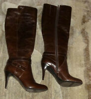 Nine West High Heels Leather Boots Ladies / Women Shoes Size 7.5