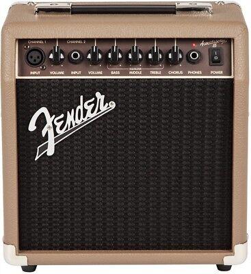 "Fender Acoustasonic 15 Watt 1x6"" Combo Acoustic Guitar Amplifier"