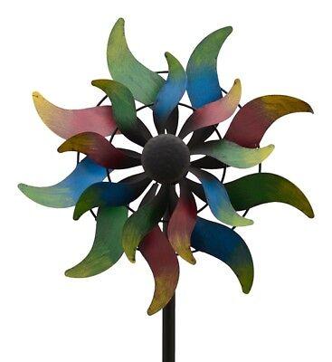 XXL Windrad Yao 2 ArtFerro Windspiel Gartenstecker Gartendeko Metall * H168  Ø36