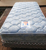 Single Mattress, Box Spring and Frame For Sale