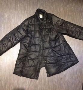 Black Quilted Winter Maternity Coat, XXL London Ontario image 1
