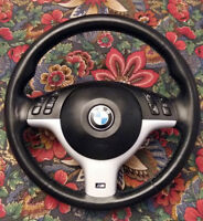 BMW E46 M3 OEM Steering Wheel with Airbag Fits E53 X5, E39