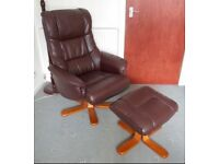 Recliner and footstool SOLD