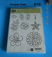 """Stamp set by Stamping up  """"Flower Fest"""""""