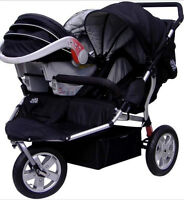 Double Jogging Stroller With Car Seat Attachment