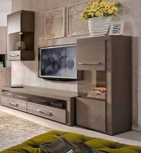 4 Piece Living Room Set - TV Unit (2 Piece) Plus Storage A5 Malaga Swan Area Preview