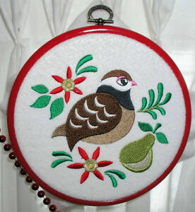 12 Days of CHRISTMAS embroidery