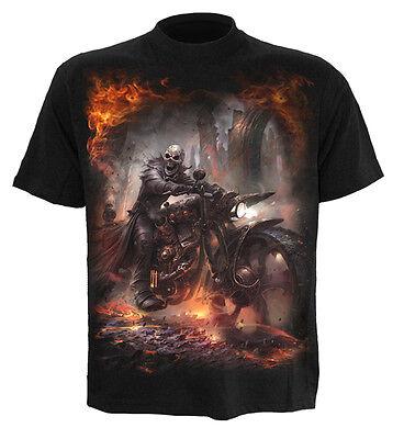 Spiral Direct Steam Punk Rider T-Shirt,Reaper/Biker/Schädel/Dunkle Kleidung / ()