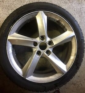 Audi / VW winter tires and wheels in size: 245/40/R18 Kitchener / Waterloo Kitchener Area image 1