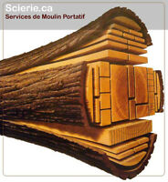 Service Scierie Mobile - Portable Sawmill - Sur place/ On Site
