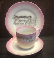 China tea cup, saucer and plate made in Luechtenburg Germany