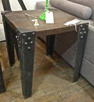 Floor Model Sale - Side Table Chicago in reclaimed wood
