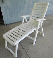 Plastic chaise chair