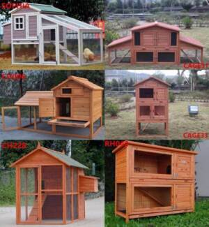 Chicken Coop Rabbit Hutch Ferret Guinea Pig Cage Hen Chook House