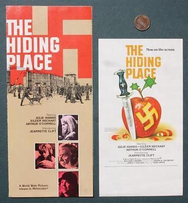 1975 World War II Jewish Saga film The Hiding Place 2 Brochure set-Julie Harris!