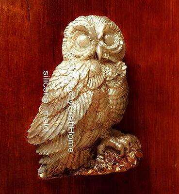 Owl silicone mold, soap silicone mold, resin mold, wax tart mold, owl mold, owl
