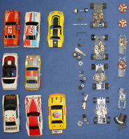 Slot cars, Electric Road Race Sets, Chassis', Bodies,track etc