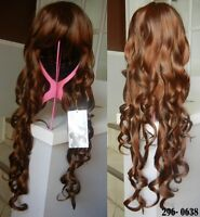 NEW WITH TAGS: Dark Brown Curly Deluxe Wig (296-0638)