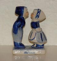 Delft Blue Kissing Children Hand-Painted Figurine