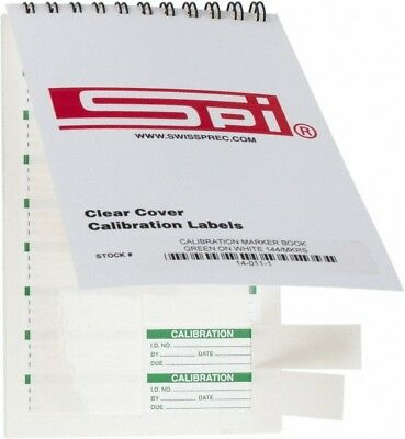 Spi Calibration Label Legend Calibration English 1-34 X 58 Green Whit...