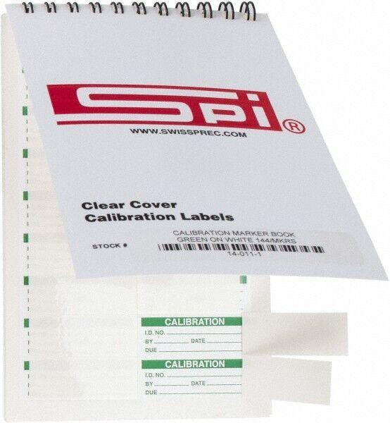 "SPI Calibration Label Legend: Calibration, English, 1-3/4 x 5/8"", Green, Whit..."