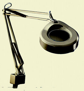 Vintage Luxo Lamp KFM-1-A(3 Diopter) Magnifying Lamp, 45