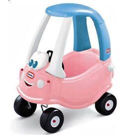 Little tyke pink car