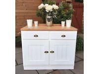 Large Vintage Sideboard ~ Solid Pine Shabby Chic Dresser