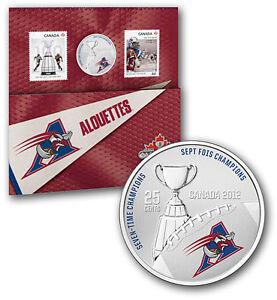 Montréal Alouettes - Coloured Coin and Stamp Set