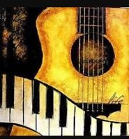 Guitar and piano lesson