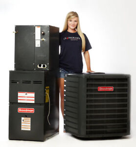 NEW GOODMAN A/C FROM $1890! NEW GOODMAN FURNACE FROM $960!