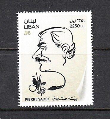 LEBANON - LIBAN MNH SC# 728 PIERRE SADEK POLITICAL CARTOONIST