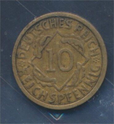 Deutsches Reich Jägernr: 317 1926 G sehr schön 1926 10 Reichspfennig (7879714