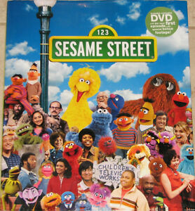 Sesame Street Celebrates 40 Years Large Hard Cover Book with DVD