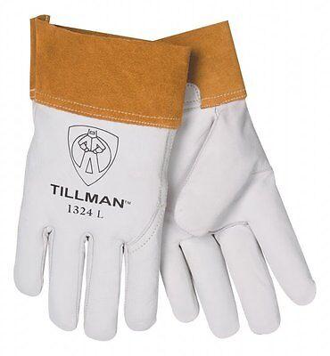 Tillman 1324 2 Cuff Welding Kidskin Goatskin Leather Tig Gloves Small