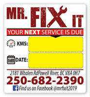 Mr Fix It - Mechanical Services - Red Seal Heavy Duty Mechanic