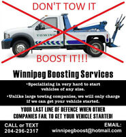 NEED A BOOST? LICENSED AND INSURED CALL OR TEXT 204-296-2317