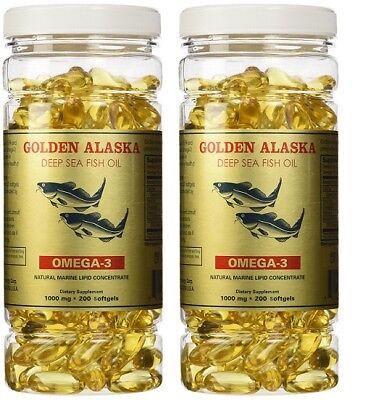 Golden Alaska Deep Sea Fish Oil Omega-3 1000 Mg 400 Capsules Best Value