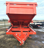 "Sweet KUBOTA ORANGE! 14' x 83""  DumpBox with TARP KIT for SPRING"